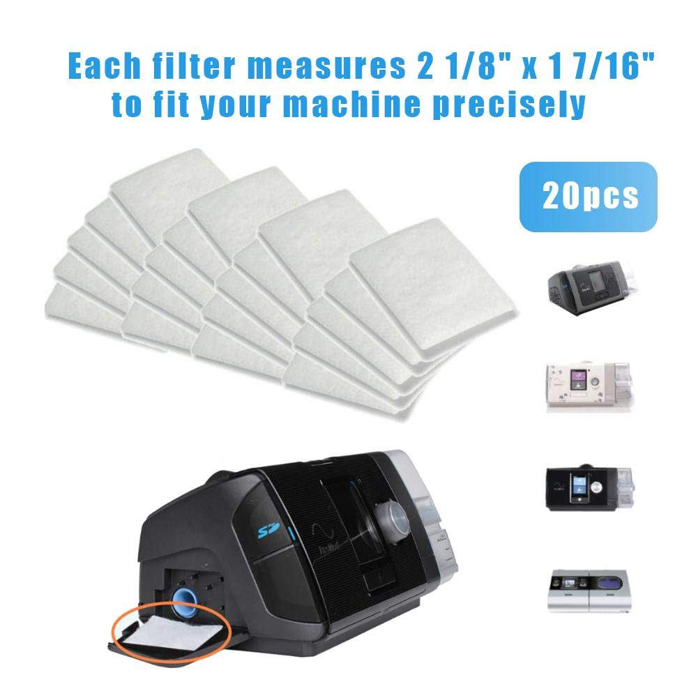 raspbery Paquets de 20//40 Packs consommables universels jetables pour filtres CPAP de Remplacement pour Les Machines CPAP Resmed s/érie Airsense S9 S10 21//8x 1 7//16 Pleasant Outgoing