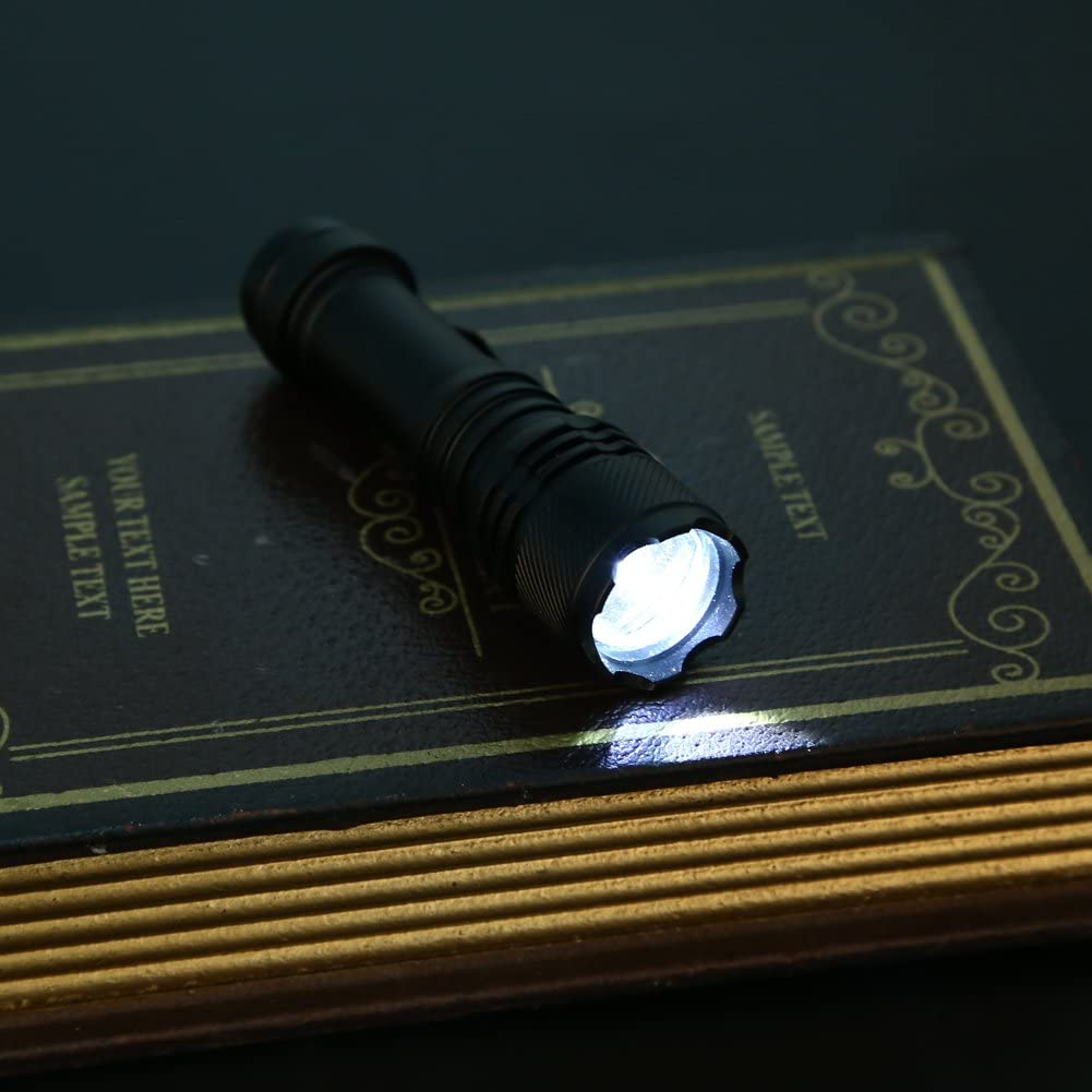 starnearby Super helle 5000lm CREE Q5 AA//14500 3 Modi Zoomable LED-Taschenlampe Taschenlampe schwarz
