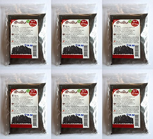 Pack of 6 Sachets Activated Bamboo Charcoal Powder Absorb Toxin Vegetable Wash Food Grade -