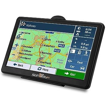 Navegador GPS, pantalla táctil de 7 pulgadas y 8 GB, alto brillo, incluye
