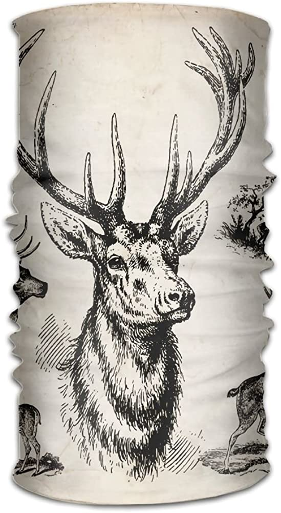 Retro Forest Deer Antlers Unisex Fashion Quick-drying Microfiber Headdress Outdoor Magic Scarf Neck Neck Scarf Hooded Scarf Super Soft Handle