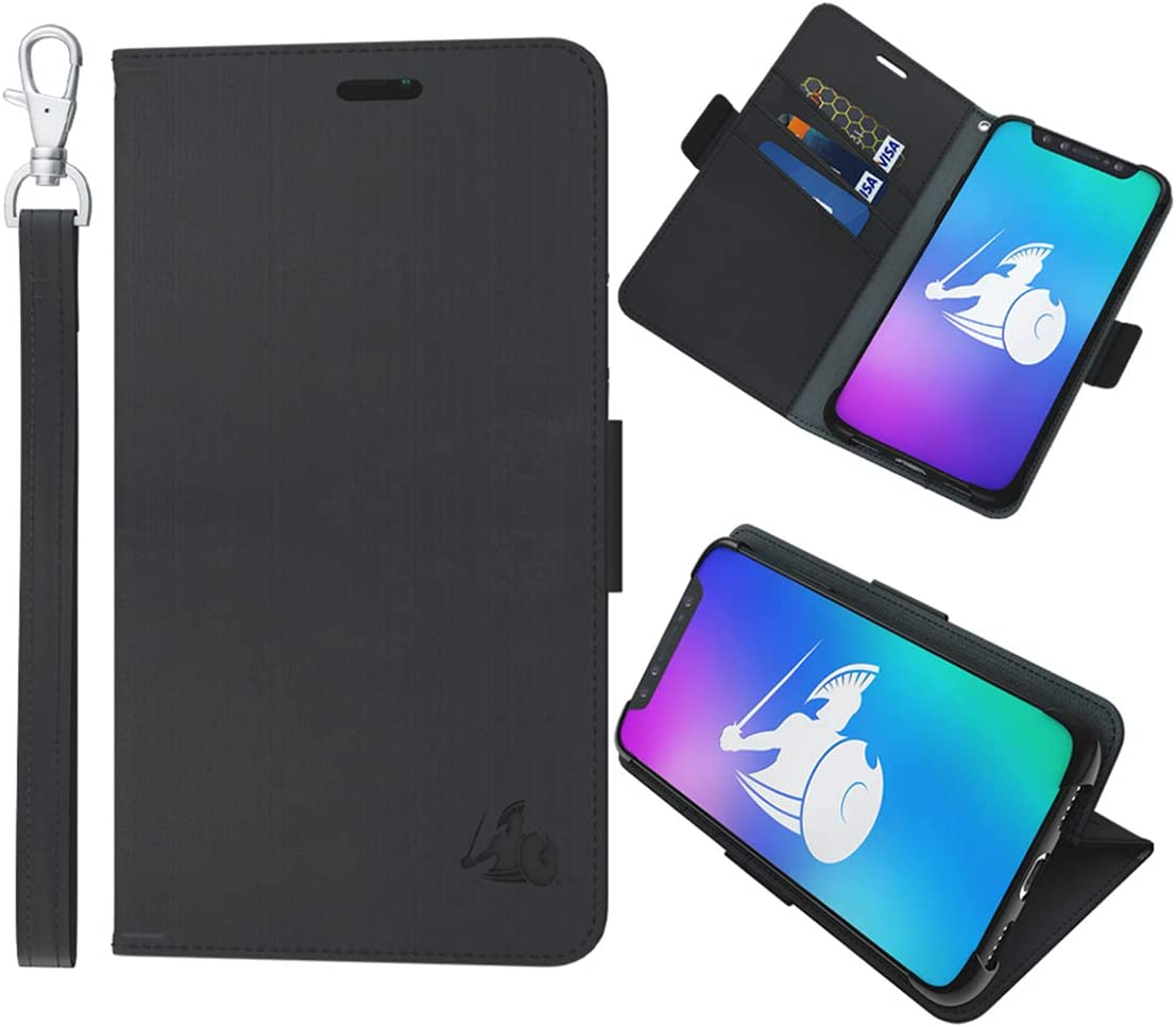 DefenderShield Universal Cell Phone 5G & EMF Radiation Shield - Detachable Magnetic Wallet Case w/Wrist Strap - Anti Cell Phone Radiation Protection (Up to 6.5