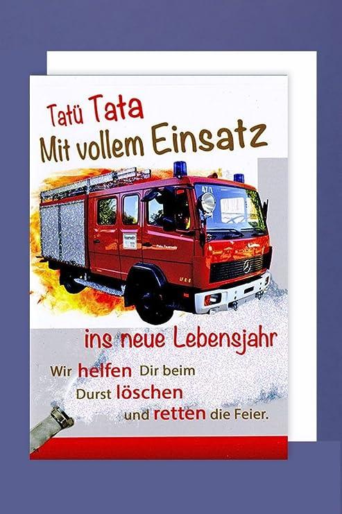 Avancarte Gmbh Feuerwehr Geburtstag Karte Grusskarte Loschzug Retter