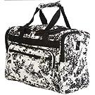 World Traveler Black Ivory Toile Duffle Bag 16-inch