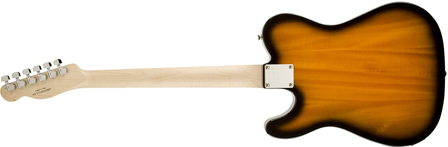 Amazon.com: Squier by Fender Affinity Telecaster Beginner Electric Guitar - Maple Fingerboard, 2-Color Sunburst: Musical Instruments