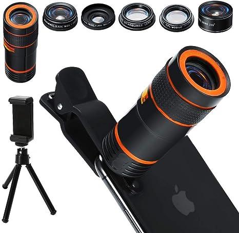 Kit de lentes para cámara de teléfono celular 6 en 1, lente zoom ...