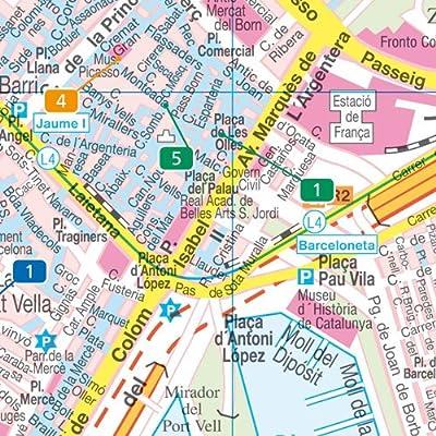 Barcelona City Pocket, plano callejero de bolsillo, plastificado. Escala 1:10.000. Freytag & Berndt.: Stadskaart 1:10 000: Amazon.es: VV.AA.: Libros