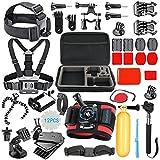 SmilePowo 42-in-1 Accessory Kit for GoPro Hero5 Black, Hero5 Session, Hero4 Silver Black, Hero Session, Accessory Bundle Set for GoPro Hero3+ 3 2 1, SJ Cam Xiaomi