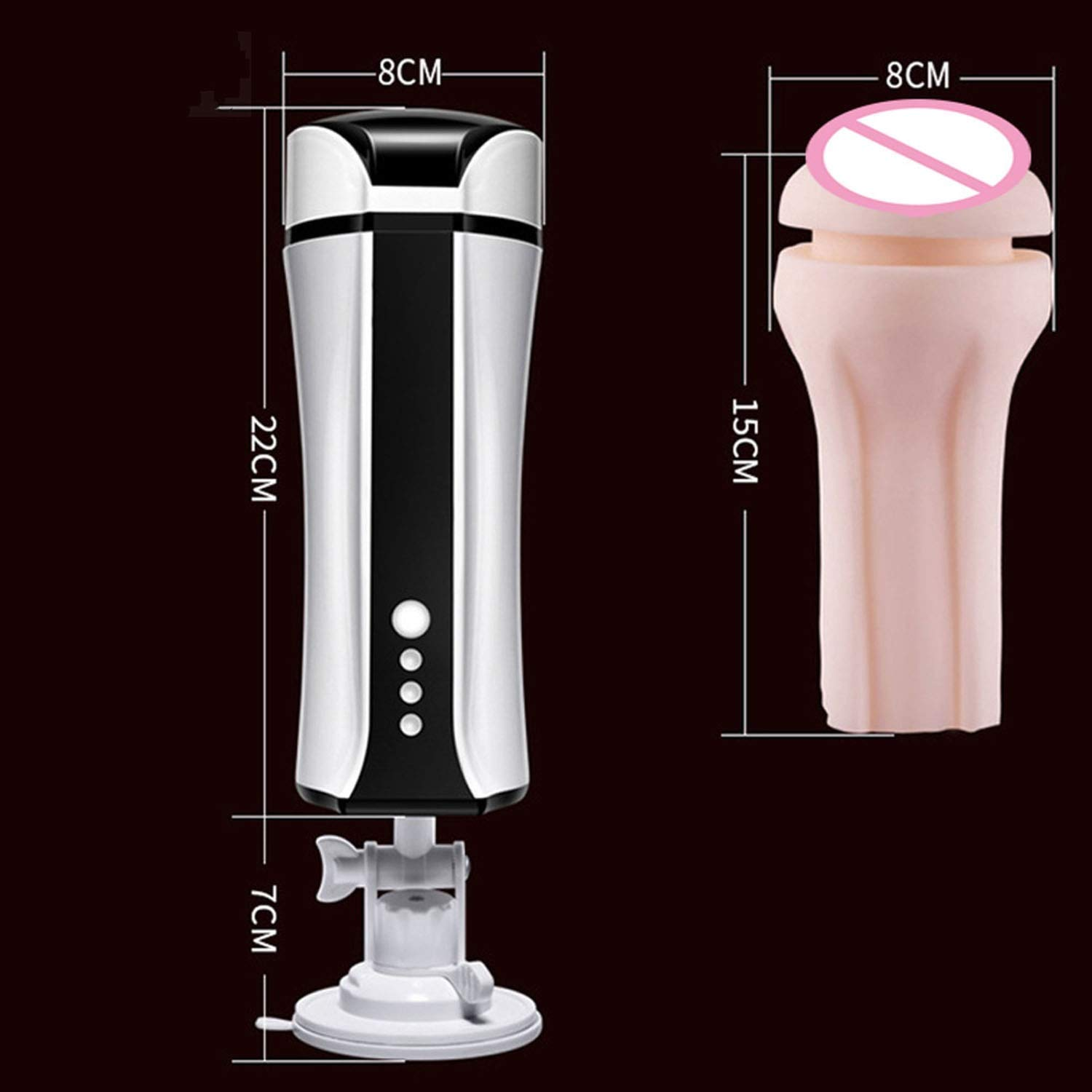 USEXMTY S-Tshirt Male Masturbator Automatic Intelligent Heating Male Hands Free Masturbator USB Rechargeable Suction Cup Real Vagina Adult Sexxx-Toys for Men,as Picture Ingenious by USEXMTY S-Tshirt (Image #4)