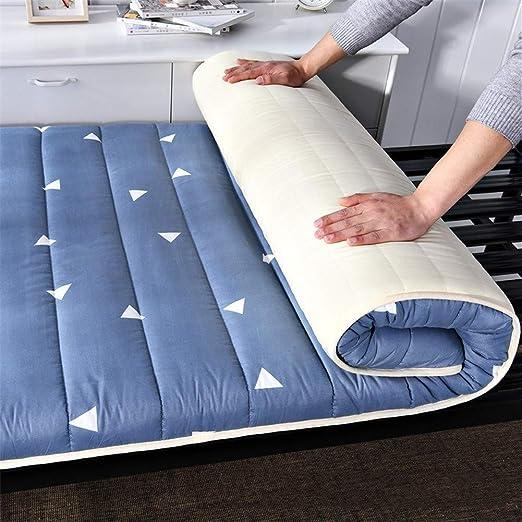 Huan Impresión del algodón futón Deslizamiento del Suelo Tatami japonés Cubrecolchón Transpirable Plegable Grueso colchón for el Dormitorio de la Sala (Color : A, Size : 90x200cm(35x79inch)): Amazon.es: Hogar