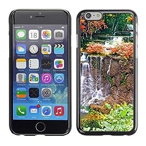 TopCaseStore / la caja del caucho duro de la cubierta de protección de la piel - Nature Waterfall - Apple iPhone 6 Plus 5.5