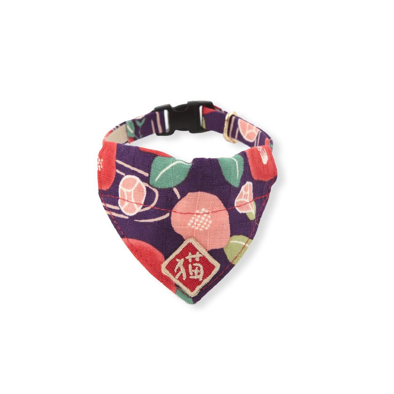 Necoichi Kimono Cat Bandana Collar (Purple) by Necoichi