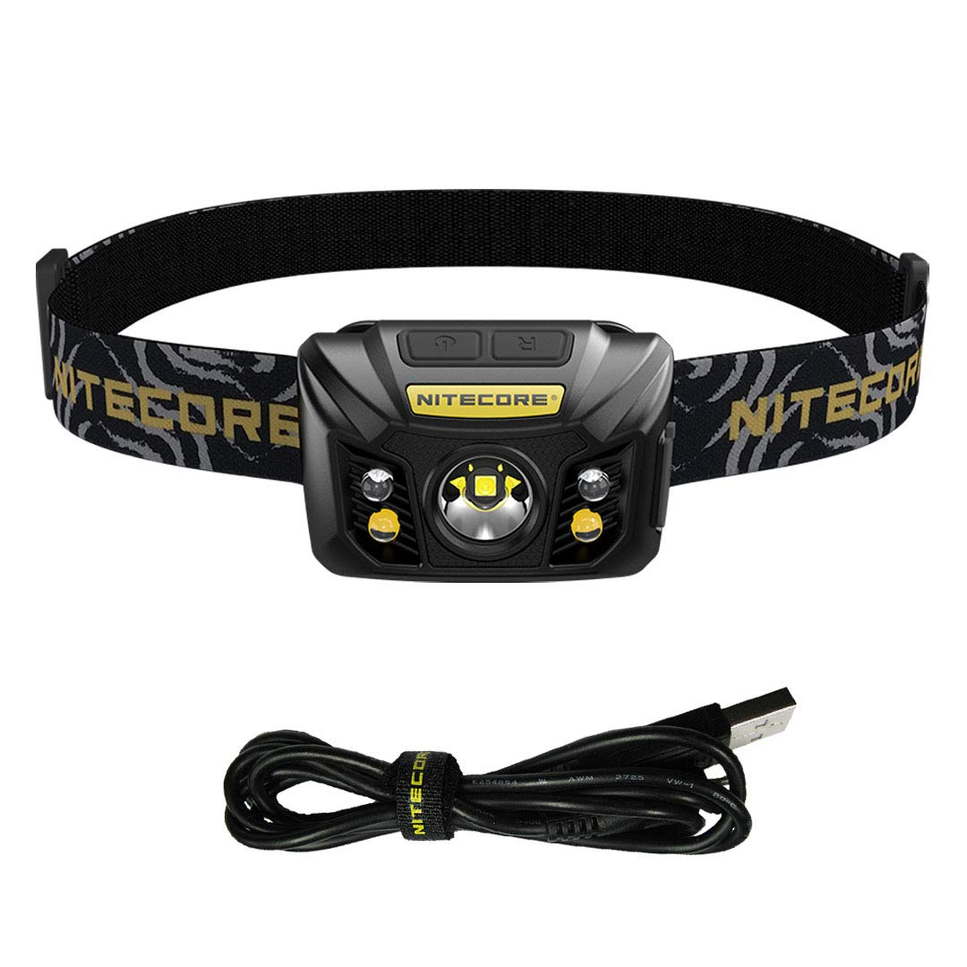 Nitecore NU32 550 Lumen LED Rechargeable Headlamp with White and Red Beams, Black