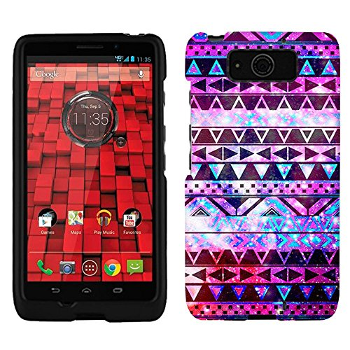 Motorola Droid Ultra Nebula Black Aztec Galaxy Firm Case