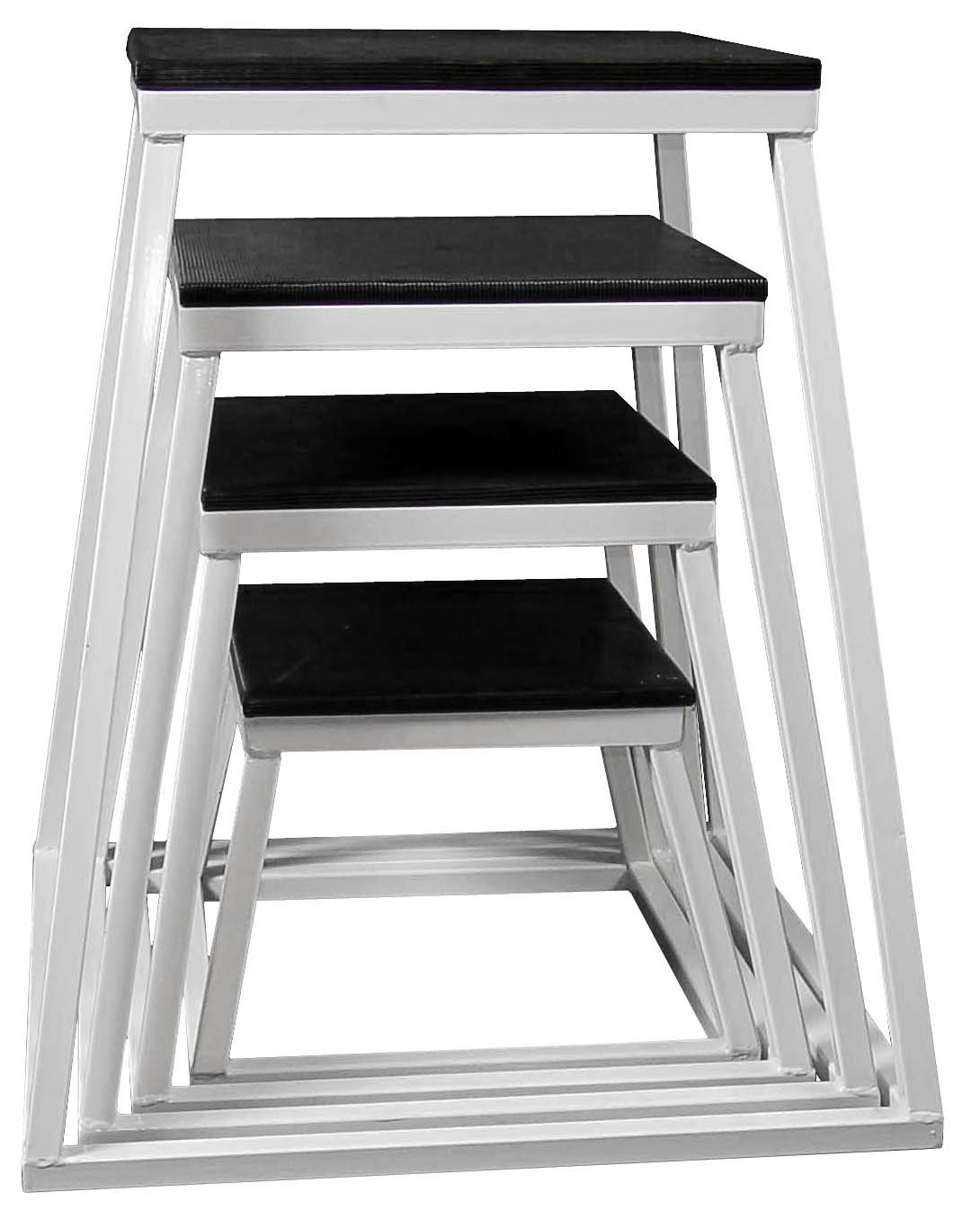 Ader Plyometric Platform Box Set- 12'', 18'', 24'', 30'' White