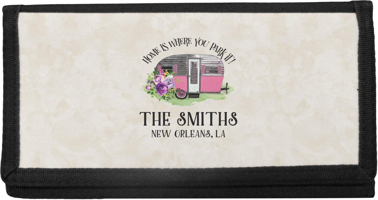 Camper Canvas Checkbook Cover (Personalized)