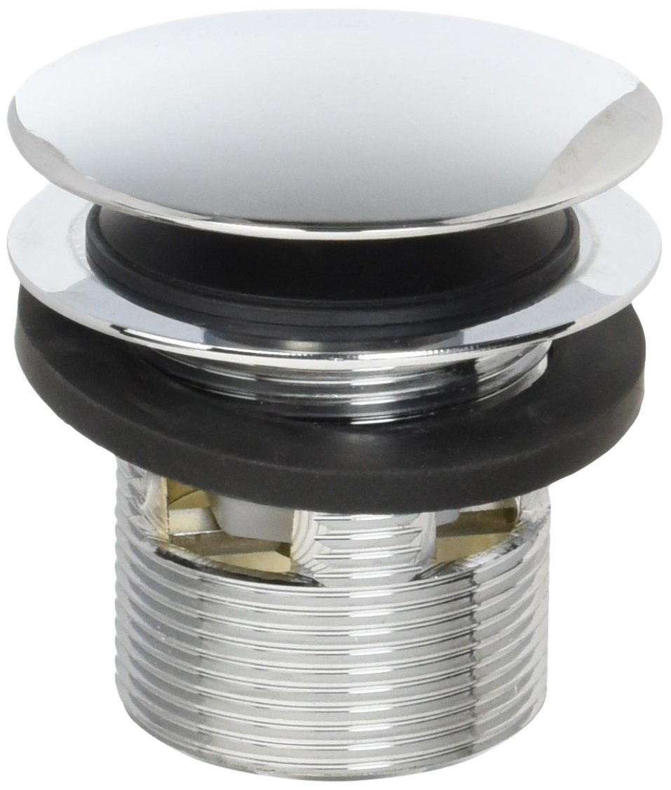 Westbrass D98R-26 1-1/2-Inch NPSM Coarse Thread Integrated Overlfow ADA Approved Tip-Toe Bath Drain