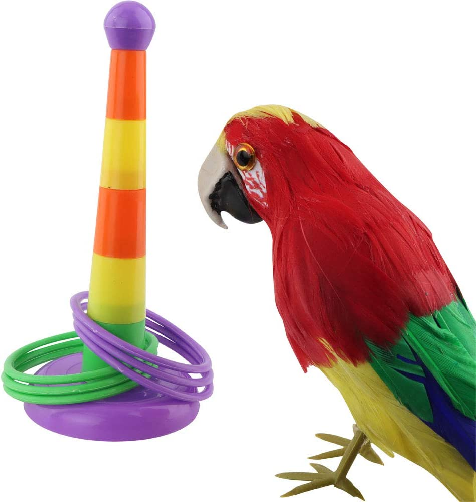 Bird Parrot Intelligence Training Rings Toy Pet Bird Interactive Tool for Small Medium Parakeet Cockatiel Conure Lovebird Finch Canary Budgie Macaw African Grey Cockatoo