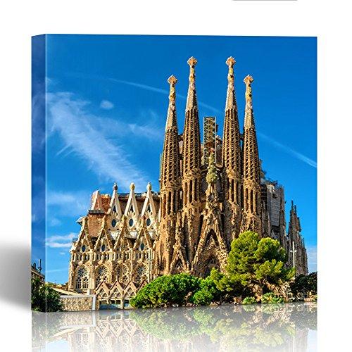 Barcelona Framed - Emvency Painting Canvas Print Wooden Frame 20