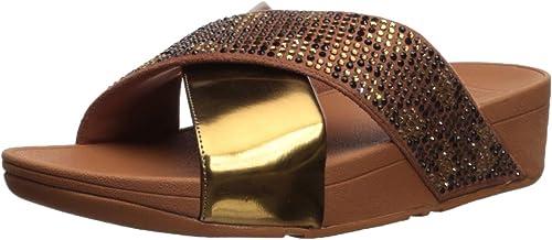 Lulu Leopard-Crystal Sandal