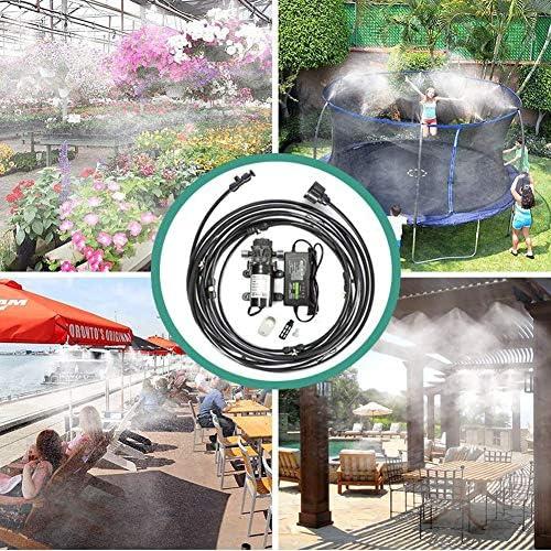 トランポリンスプリンクラーガーデン冷却灌漑システム6/26/21ノズル付き10/20/17メートル1ポンプ1電源1スマートセンサーソケット,A