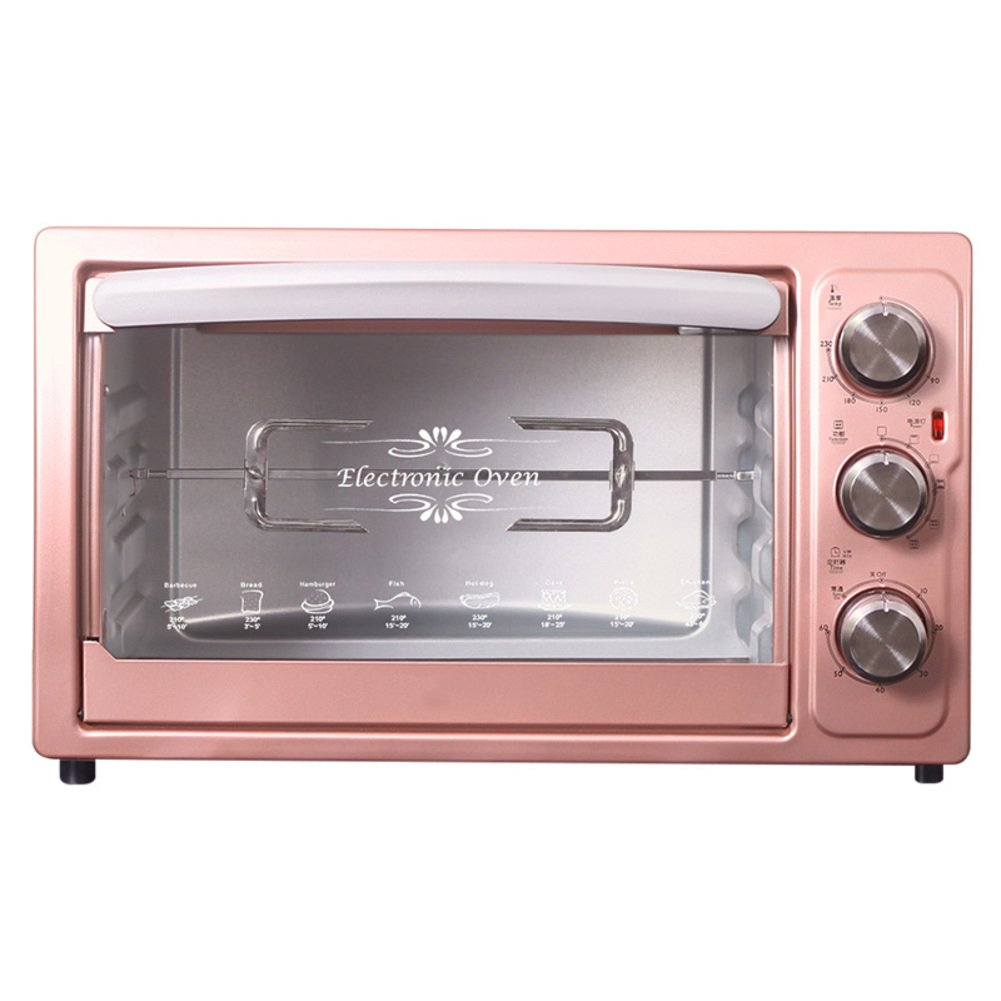 DULPLAY 30L Toaster Oven,Best Convection,Mini,Digital Dining,Includes Broil Rack,Countertop Oven Pink Digital Polished Stainless Toast Home Kitchen-pink 50.5x30.5cm(20x12inch)