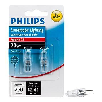 Philips 417204 Landschaft Beleuchtung 20 Watt T3 12-Stiftsockellampe ...