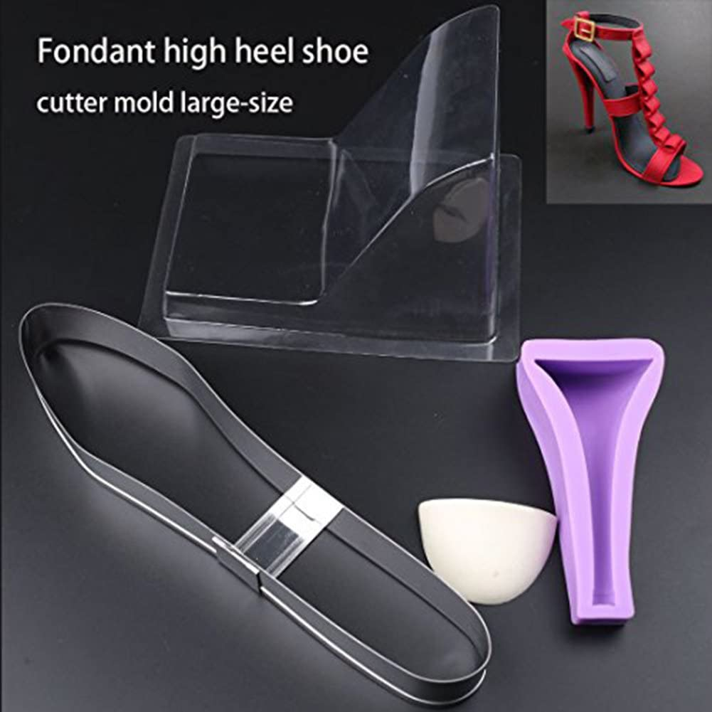 SK 3D Mold High-heeled Shoes Chocolate Decorating Silicone Gum Paste Baking Molds Large Size Valentines Day