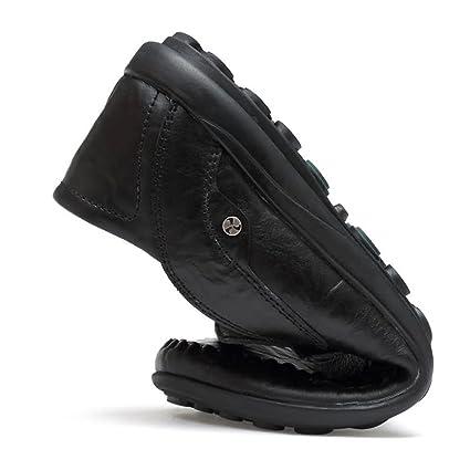 Jiuyue-shoes Mocasines para Hombres de Cuero holgazán Hollywood Estilo de conducción (Color : Negro, tamaño : 46 EU): Amazon.es: Hogar
