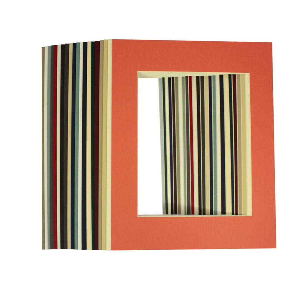 Oro State Art, MIXED COLORS 11x14 Picture Mats Matting Matting Mats with Blanco Core Bevel Cut for 8x10 Pictures by Oro State Art 660a64