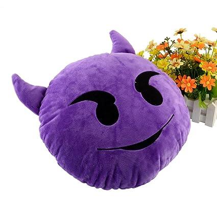 The Purple Tree Velvet Emoji Cushion (1 Piece) - Purple