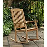 Outdoor Rocking Chairs,Traditional Style Sherwood Natural Brown Teak Porch Rocking Chairs For Sale