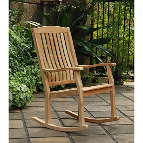 Style Chair Traditional Rocking - Outdoor Rocking Chairs,Traditional Style Sherwood Natural Brown Teak Porch Rocking Chairs