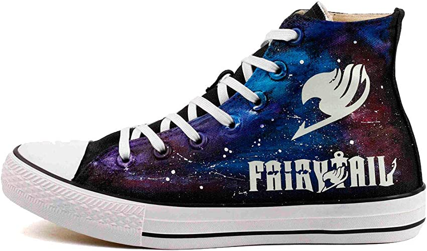Anime Fairy Tail Star sign Cosplay Casual Sneakers Canvas Shoes Unisex