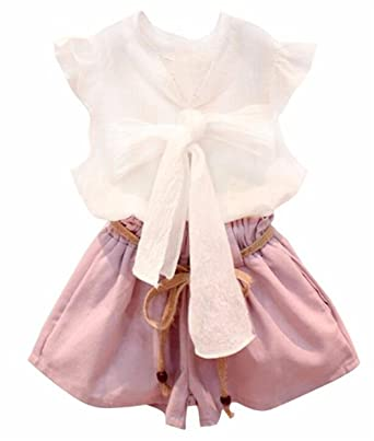 187a302ed1 2PCS Toddler Kids Baby Girls Lace Shirt Tops Tutu Skirt Dress Outfit Size  4-5