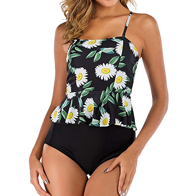 Amazon.com: ZFK_Swimwear Trajes de baño para mujer, 2 piezas ...