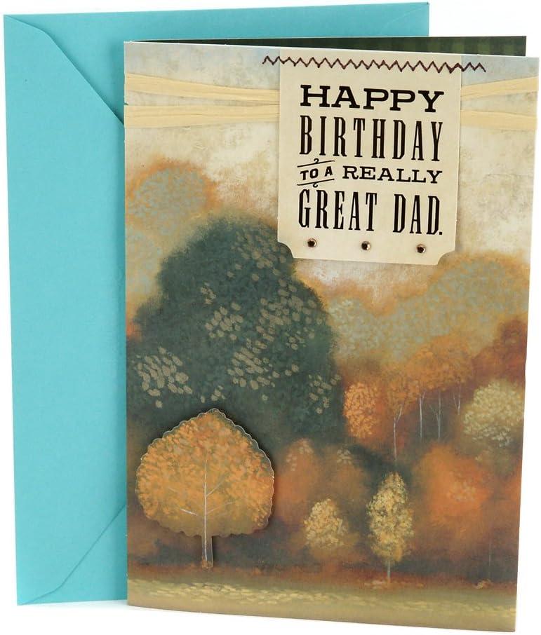 Hallmark Birthday Card for Dad (Autumn Landscape)
