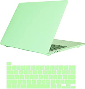 Se7enline 2021/2020 MacBook Pro 13 inch Case Skin-Friendly Hard Laptop Cover Compatible with MacBook Pro 13-inch Model M1 A2338/A2251/A2289 with Touch Bar with Silicone Keyboard Skin,Melon Green