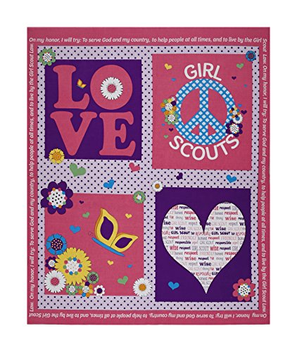 Riley Blake Designs Riley Blake Girl Scouts Promise 35in Panel Pink