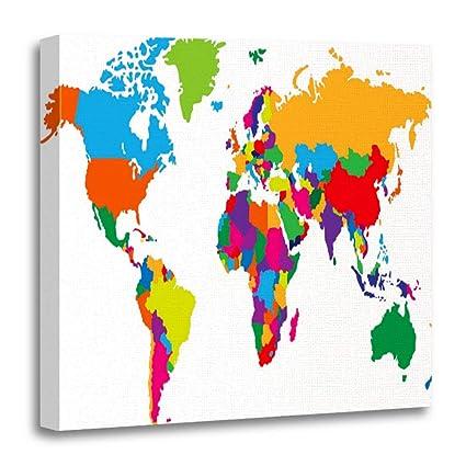 Amazon.com: Emvency Canvas Prints Square 20x20 Inches Outline ...