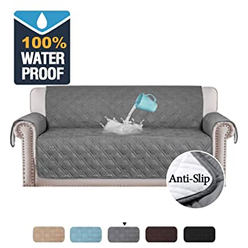 Remarkable H Versailtex 100 Waterproof Sofa Slipcovers For Three Cushion Sofas Slip Resistant Furniture Protector Quilted Couch Covers For Sofa Couch Slip Machost Co Dining Chair Design Ideas Machostcouk