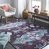 Mohawk Home Prismatic Eidenau Plum Aztec Precision Printed Area Rug, 5'x8′, Purple