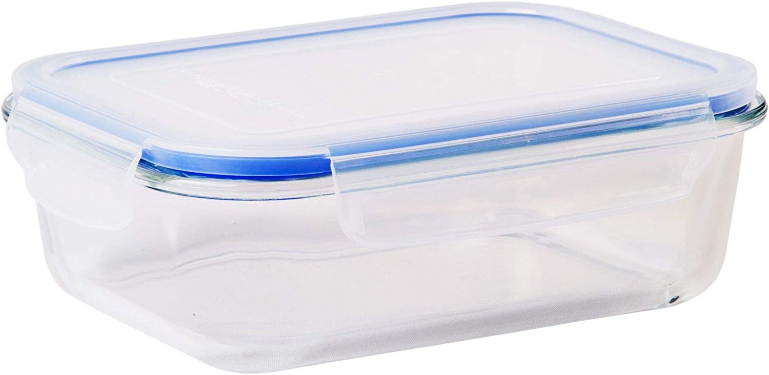 Palais Glassware Tempered Glass Food Storage and Meal Prep Container with Airtight Lid - Baking Dish (Rectangle, 6.75