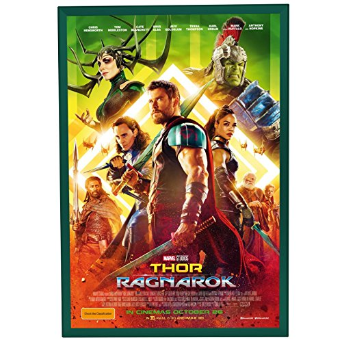 "SnapeZo Movie Poster Frame 24x36 Inches, Green 1.25"" Aluminu"