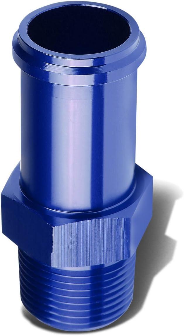 3//8 Npt Male Straight To 1//2 Hose Port Nipple Aluminum Finish Adapter Blue