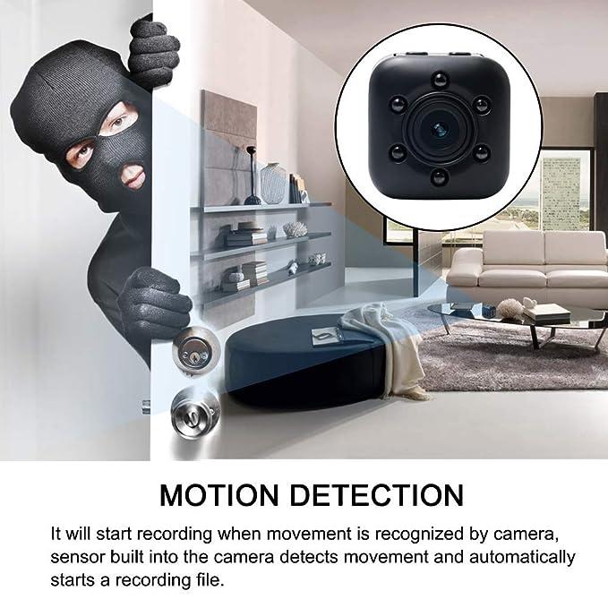 Cámara oculta 1080P HD, WIFI COP Cam visión nocturna y detección de movimiento, Nanny Cam incorporada vigilancia de seguridad magnética para el hogar, ...