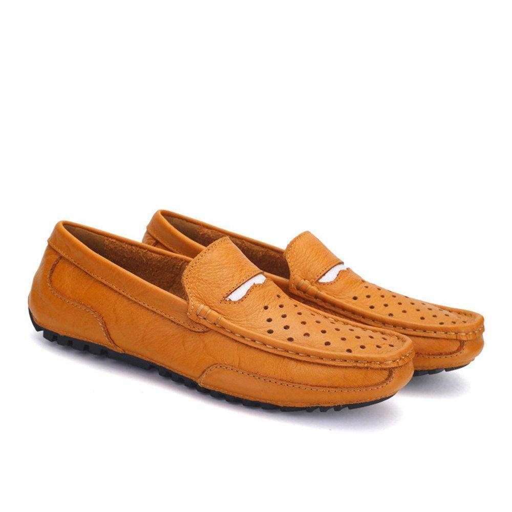 AFCITY Sommer Herren Lederschuhe Freizeitschuhe Slip on Schuhe Klassischer Größe Stiefelschuh (Farbe : Braun, Größe Klassischer : 38 2/3 EU) Braun a0f7d0