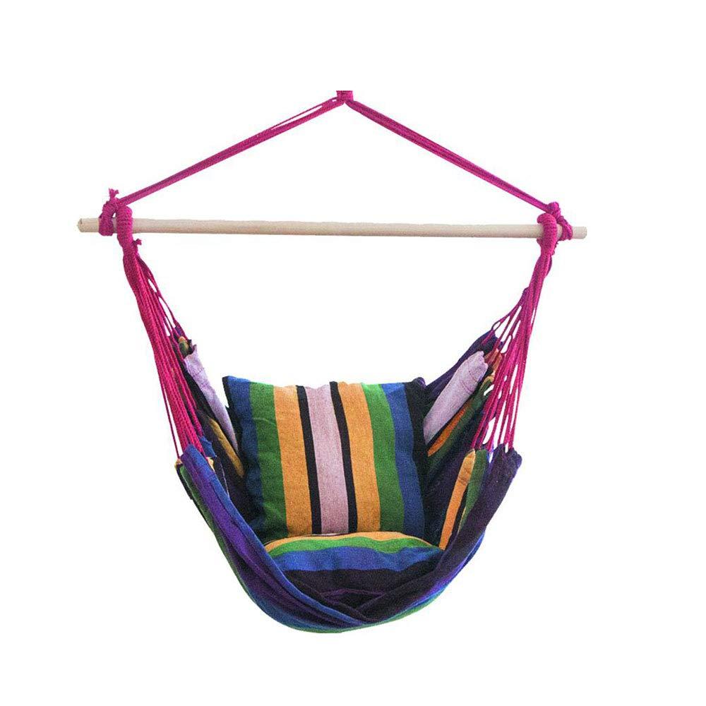 Jcnfa-hängematte Hängestuhl, Schlafsaal Schlafzimmer Hängematte Indoor Haushalt Einzigen Stuhl Zu Senden 2 Kissen, Um Seil Zu Senden