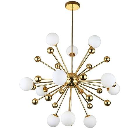 Araña/Lámparas de techo de metal dorado/Lámpara colgante LED ...
