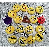 New 20 style Emoji toys for Kids Emoji Plush Keychains Mixed Emoji Keyrings B...